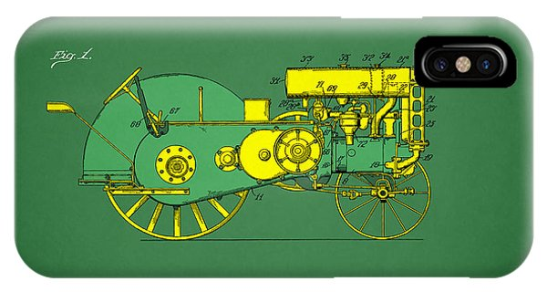 Farms iPhone Case - John Deere Tractor Patent by Mark Rogan