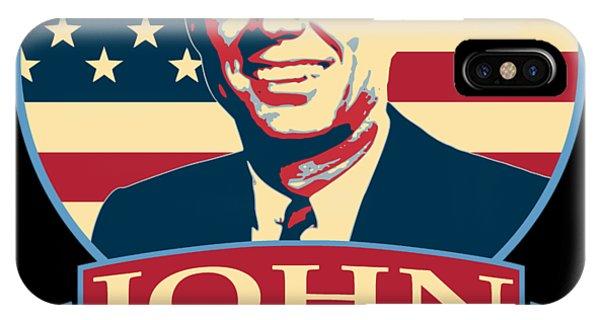 Equal Rights iPhone Case - John F Kennedy American Banner Pop Art by Filip Hellman