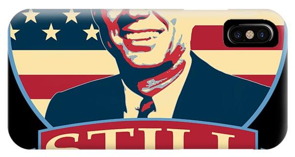 Equal Rights iPhone Case - John F Kennedy Still My President American Banner Art by Filip Hellman