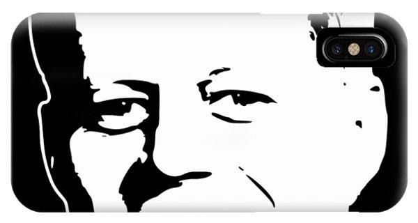 Equal Rights iPhone Case - John F Kennedy White On Black Pop Art by Filip Hellman
