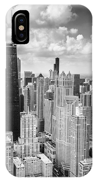 John Hancock Building In The Gold Coast Black And White IPhone Case