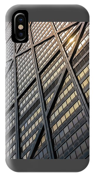 John Hancock Center iPhone Case - John Hancock Center Skin by Steve Gadomski