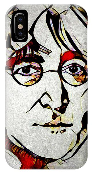 IPhone Case featuring the mixed media John Lennon by Lita Kelley