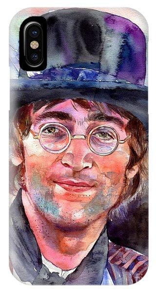 Legends Music iPhone Case - John Lennon Portrait by Suzann's Art