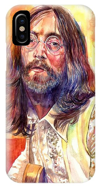 Harrison iPhone Case - John Lennon Watercolor by Suzann Sines