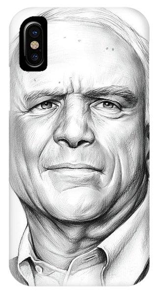 Election iPhone Case - John Mccain by Greg Joens