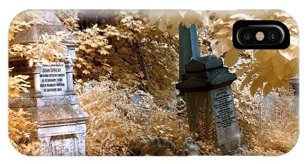 Autumnal Walk At Abney Park Cemetery IPhone Case