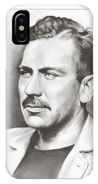 Grape iPhone X Case - John Steinbeck by Greg Joens