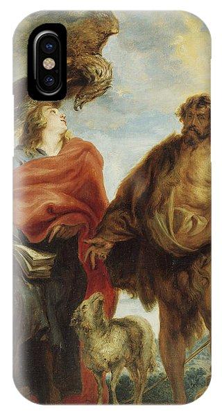 John The Evangelist And Saint John The Baptist IPhone Case