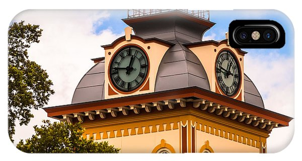 John W. Hargis Hall Clock Tower IPhone Case