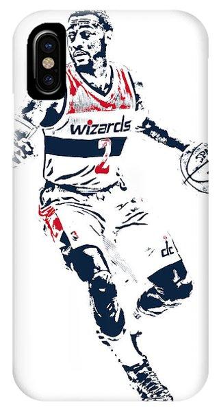Tickets iPhone Case - John Wall Washington Wizards Pixel Art 1 by Joe Hamilton