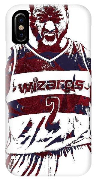 Tickets iPhone Case - John Wall Washington Wizards Pixel Art 5 by Joe Hamilton
