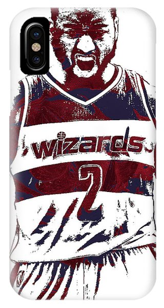 Wizard iPhone X / XS Case - John Wall Washington Wizards Pixel Art 5 by Joe Hamilton