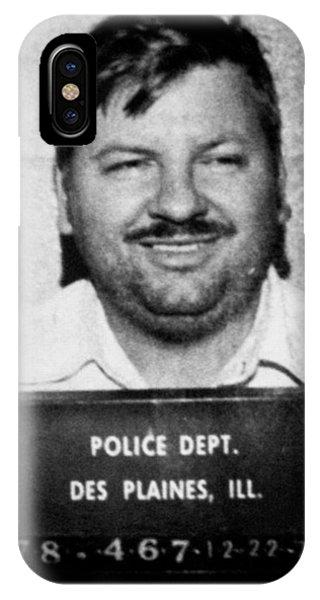 John Wayne Gacy Mug Shot 1980 Black And White IPhone Case