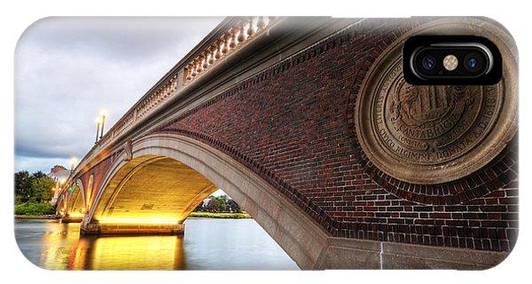 John Weeks Bridge Charles River Harvard Square Cambridge Ma IPhone Case
