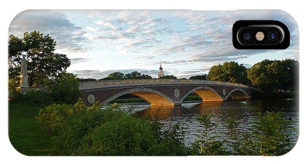 John Weeks Bridge In Harvard Square Cambridge IPhone Case