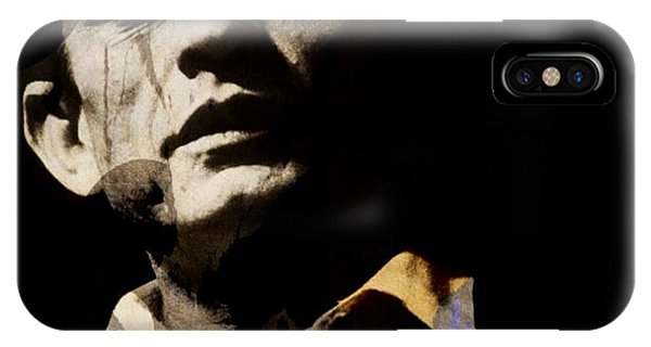 Johnny Cash iPhone Case - Johnny Cash - I Walk The Line  by Paul Lovering