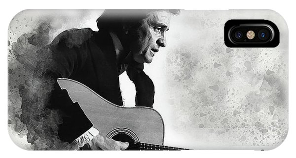 Johnny Cash iPhone Case - Johnny Cash by Karl Knox Images