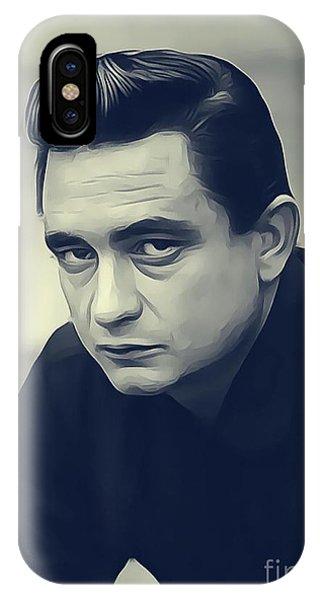 Johnny Cash iPhone Case - Johnny Cash, Music Legend by John Springfield