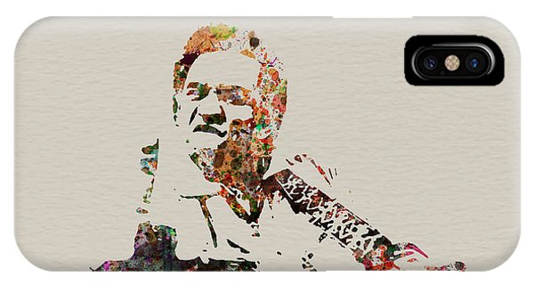 Johnny Cash iPhone Case - Johnny Cash by Naxart Studio