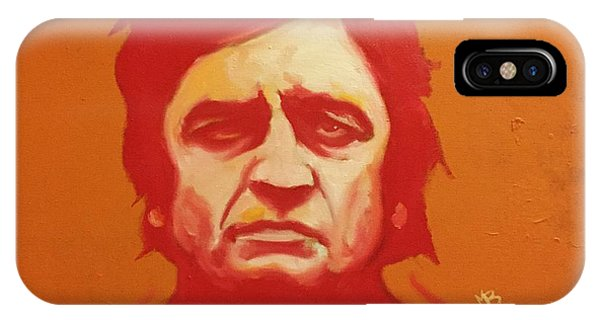 Johnny Cash Orange IPhone Case