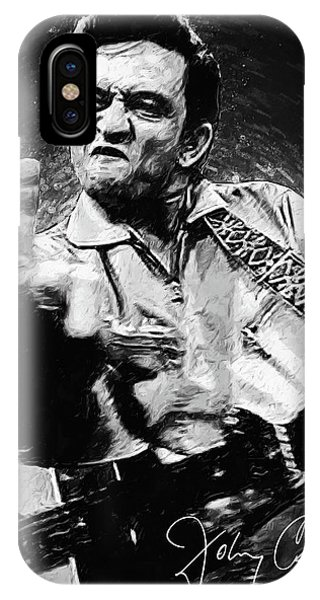 Rock And Roll Art iPhone Case - Johnny Cash by Zapista Zapista