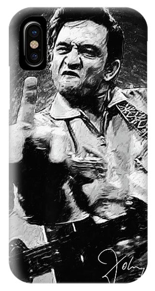 Johnny Cash iPhone Case - Johnny Cash by Taylan Apukovska
