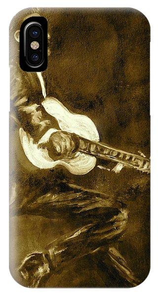 Johnny Cash iPhone Case - Johnny Cash V by Pete Maier