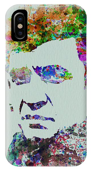 Johnny Cash iPhone Case - Johnny Cash Watercolor 2 by Naxart Studio
