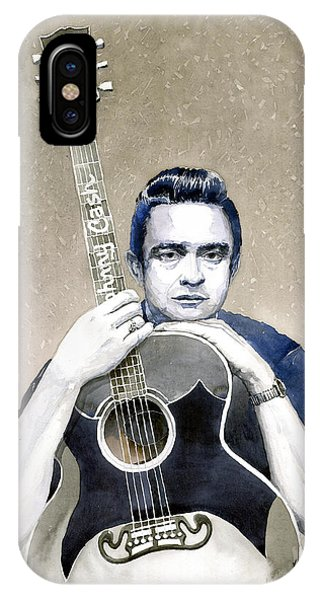 Johnny Cash iPhone Case - Johnny Cash by Yuriy Shevchuk