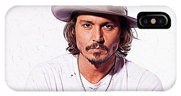 Orlando Bloom iPhone Case - Johnny Depp by Iguanna Espinosa