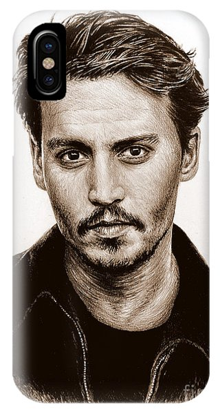 Johnny Depp Sepia IPhone Case