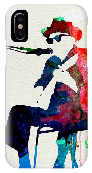 Print iPhone Case - Johnny Lee Hooker Watercolor by Naxart Studio