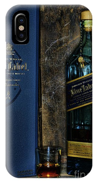 Whiskey iPhone Case - Johnny Walker Blue Label Whisky  by Paul Ward