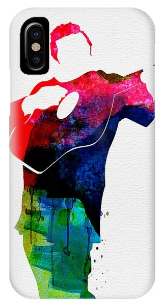 Johnny Cash iPhone Case - Johnny Watercolor by Naxart Studio