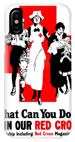Cross iPhone Case - Join Our Red Cross by War Is Hell Store