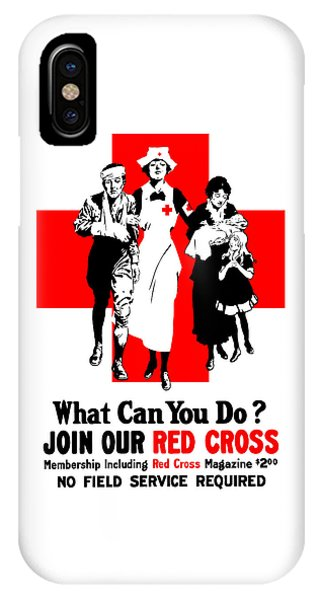 Cross iPhone X Case - Join Our Red Cross by War Is Hell Store