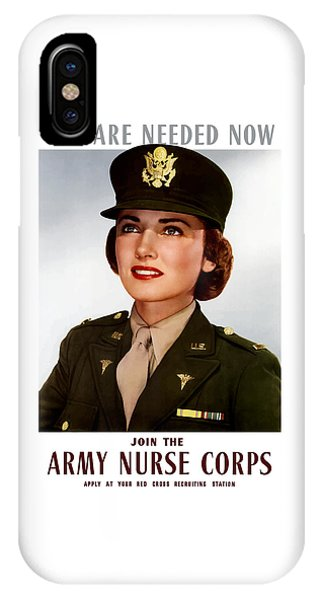 Political iPhone Case - Join The Army Nurse Corps by War Is Hell Store