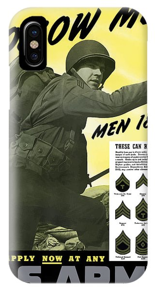 Americana iPhone Case - Join The Us Army - Follow Me by War Is Hell Store