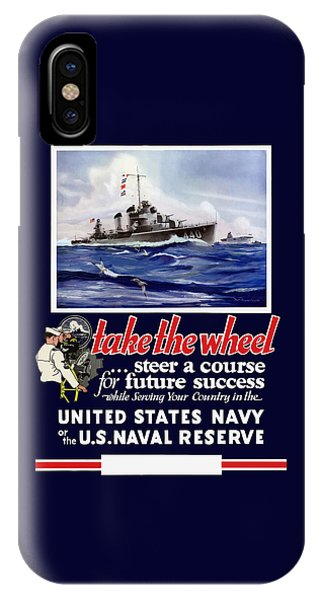 World War Two iPhone Case - Join The Us Navy - Ww2 by War Is Hell Store