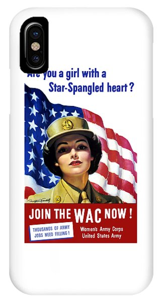 Political iPhone Case - Join The Wac Now - World War Two by War Is Hell Store