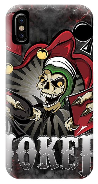 Joker Poker Skull IPhone Case