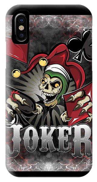 Joker Poker Skull IPhone Case