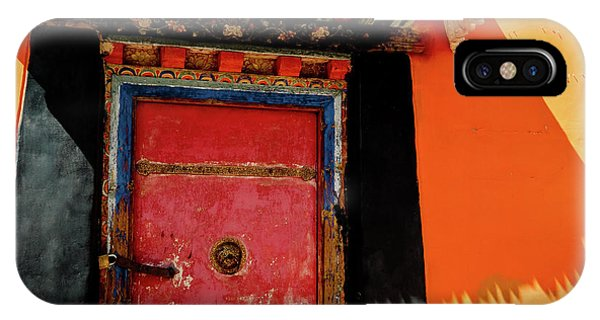 Kora iPhone Case - Jokhang Temple Door Lhasa  Tibet Artmif.lv by Raimond Klavins
