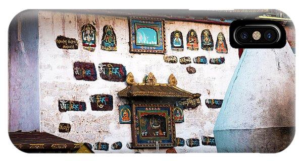 Kora iPhone Case - Jokhang Temple Wall Lhasa Tibet Artmif.lv by Raimond Klavins