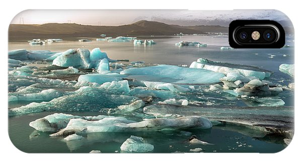 Jokulsarlon The Magnificent Glacier Lagoon, Iceland IPhone Case