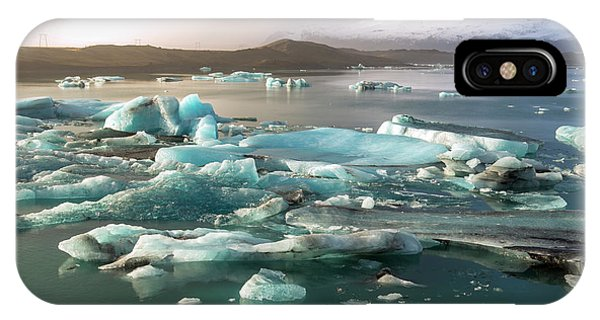 Jokulsarlon The Magnificent Glacier Lagoon, Iceland IPhone Case