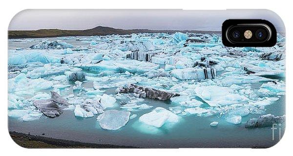 Glacier Bay iPhone Case - Jokusarlon Panorama  by Michael Ver Sprill