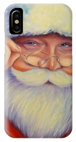 Jolly Old Saint Nick IPhone Case