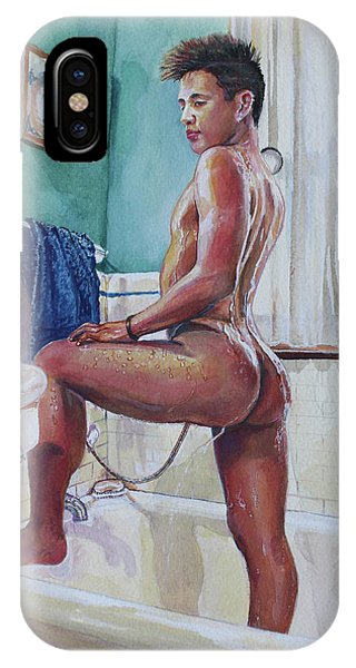 Jon In The Bathtub IPhone Case